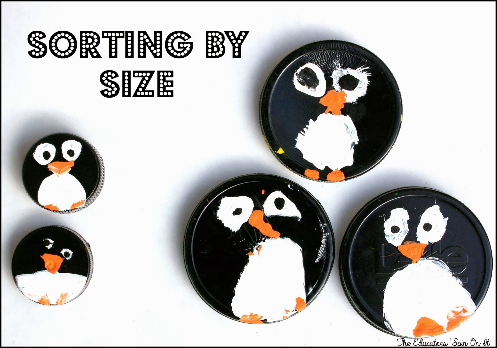 Penguin Math Counters For Preschool Learning Preschool Learning Penguin Math Penguin Activities