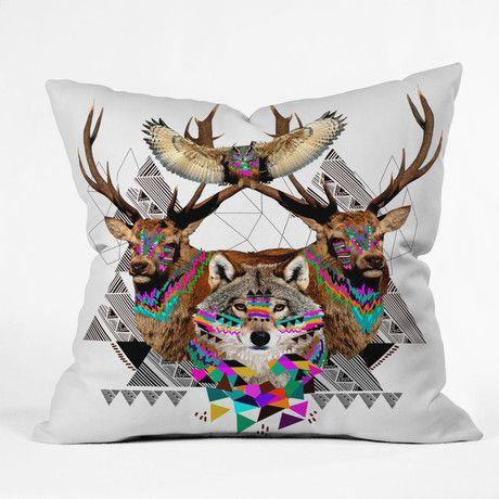 Kris Tate Forest Friends Throw Pillow Throw Pillows Natural Throw Pillows Throw Pillow Sizes