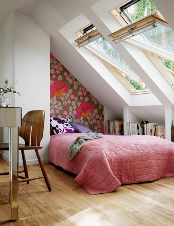 pitched roof / skylights kamer daan Pinterest Gästezimmer - kleines schlafzimmer einrichten tipps