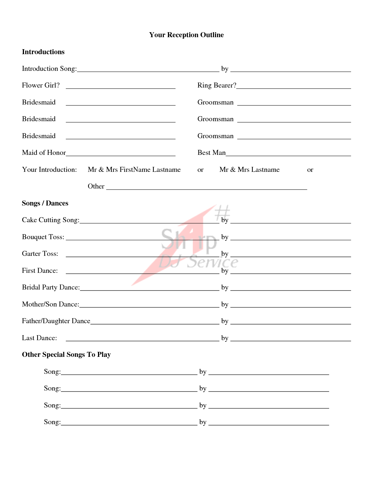 Wedding Ceremony Outline Examples