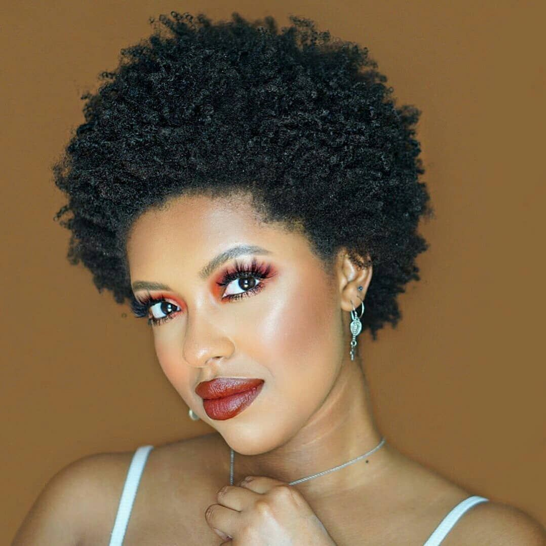 18 Short Natural Hairstyles For The Black Women Curly Craze Black Women Hairstyles American Hairstyles African American Hairstyles
