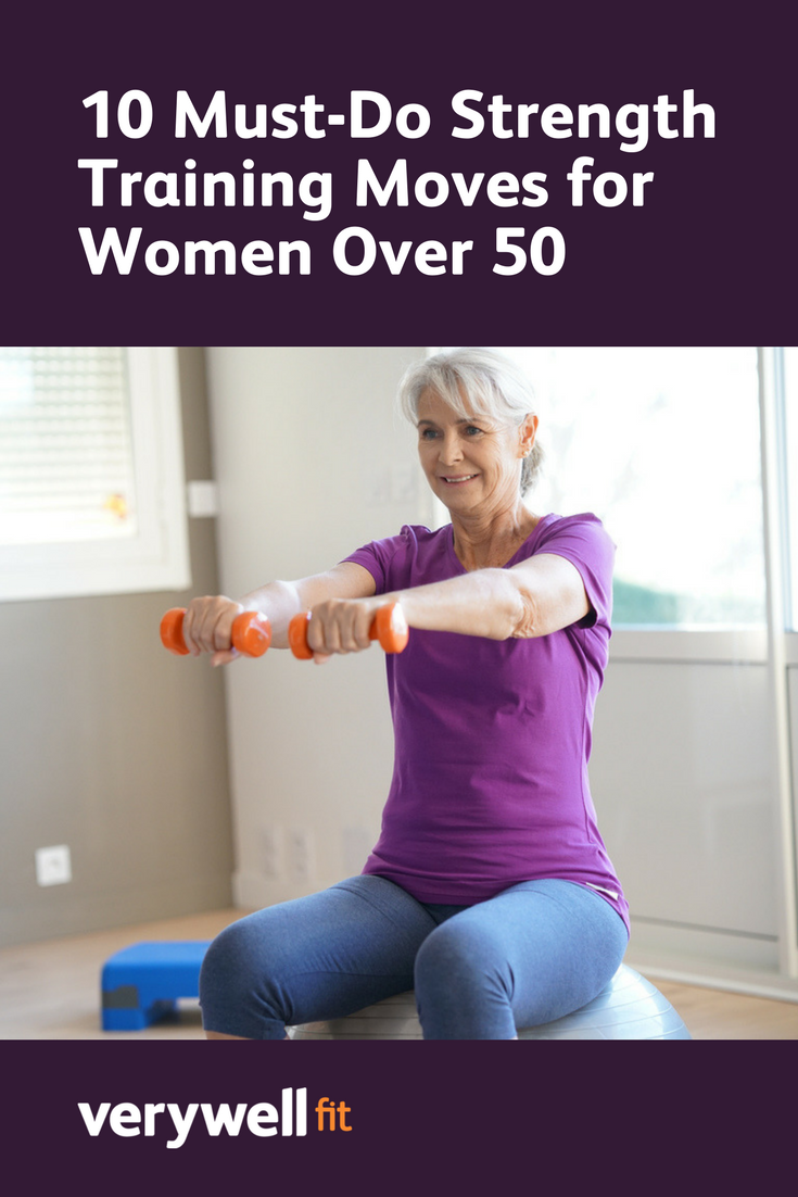 Research has shown that exercise can slow down the physiological aging clock; check out these 10 strength training moves for women over 50  womentraining is part of Strength training guide -