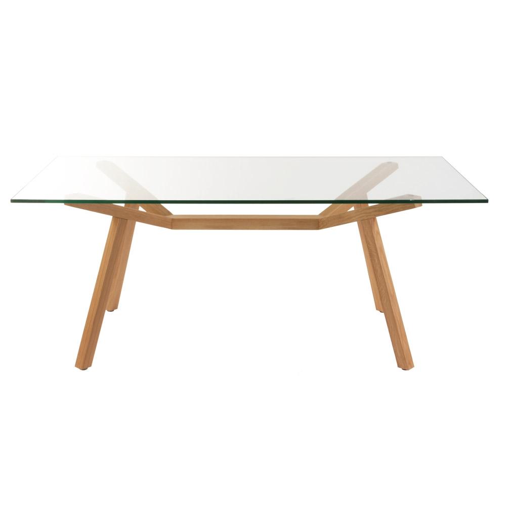 Matt Blatt Eames Coffee Table: ORIGINAL Sean Dix Forte Dining Table Glass