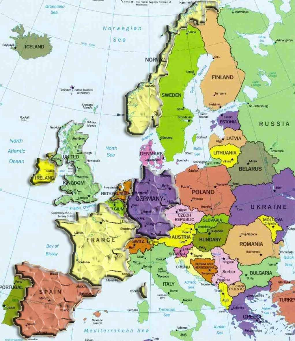 Carte europe diy crafts pinterest crafts awesome europe maps europe maps writing has been updated printable political map of europe with countries and capitals gumiabroncs Gallery