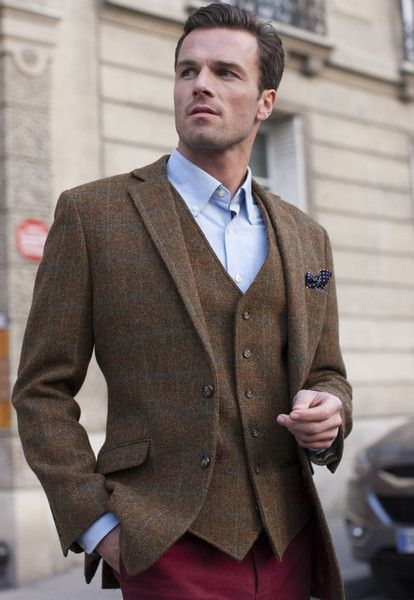 Men's Harris Tweed Tailored Jacket