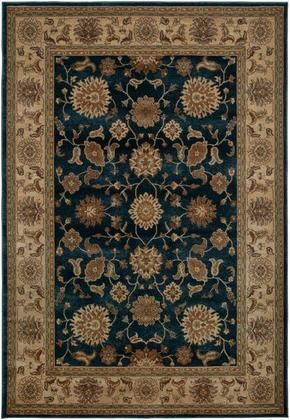 Blvbv371400099216 Bellevue Bv3714 9 2 X 12 6 Loomed 100 Heat Set Polypropylene Rug In Blue Loom Rugs And Products