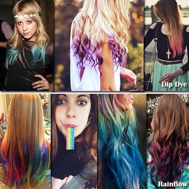 Pastel And Bright Hair Colors Inspirations From Beauties And