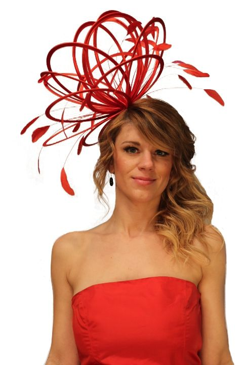 our red large hat  www.maighreadstuartmillinery.com