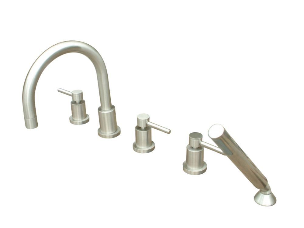 Kingston Brass KS83285DL Concord 5 Piece Roman Tub Filler Faucet ...