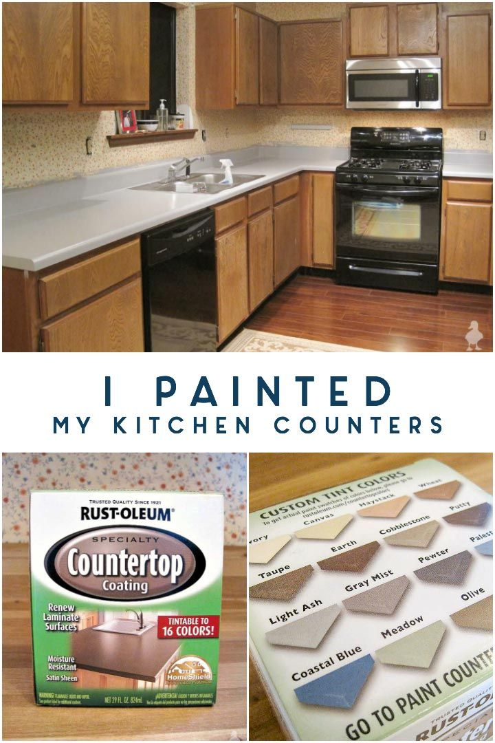 I Painted My Kitchen Countertops Painting Kitchen