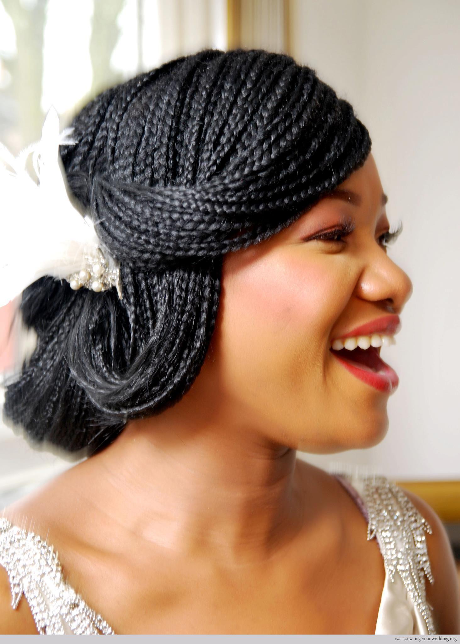 25 Gorgeous Bridal Hairstyles For Nigerian Brides By The Very Talented Mua Kemi Braided Hairstyles For Wedding Micro Braids Hairstyles Black Wedding Hairstyles