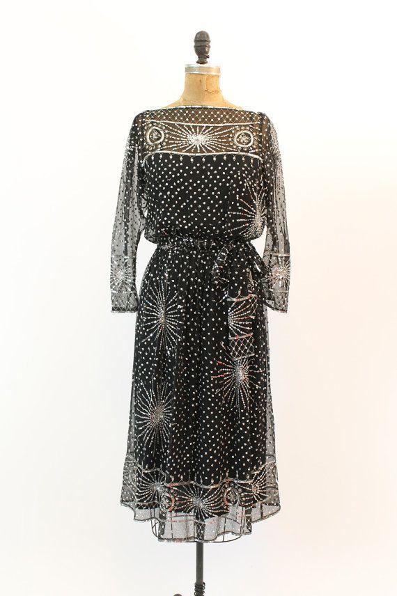 1980\u2019s Sequin Slip Dress small  medium