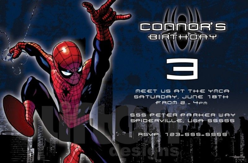 Cool Spiderman Birthday Invitation Sample