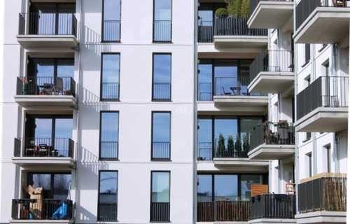 Neumodische Neubau Fassade Wohnung kaufen, Neubau und