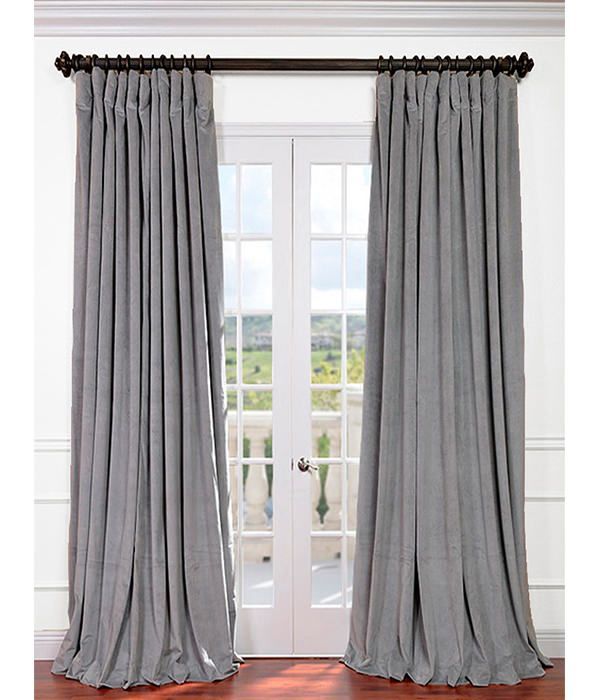 Signature Silver Grey Extra Wide Velvet Blackout Pole