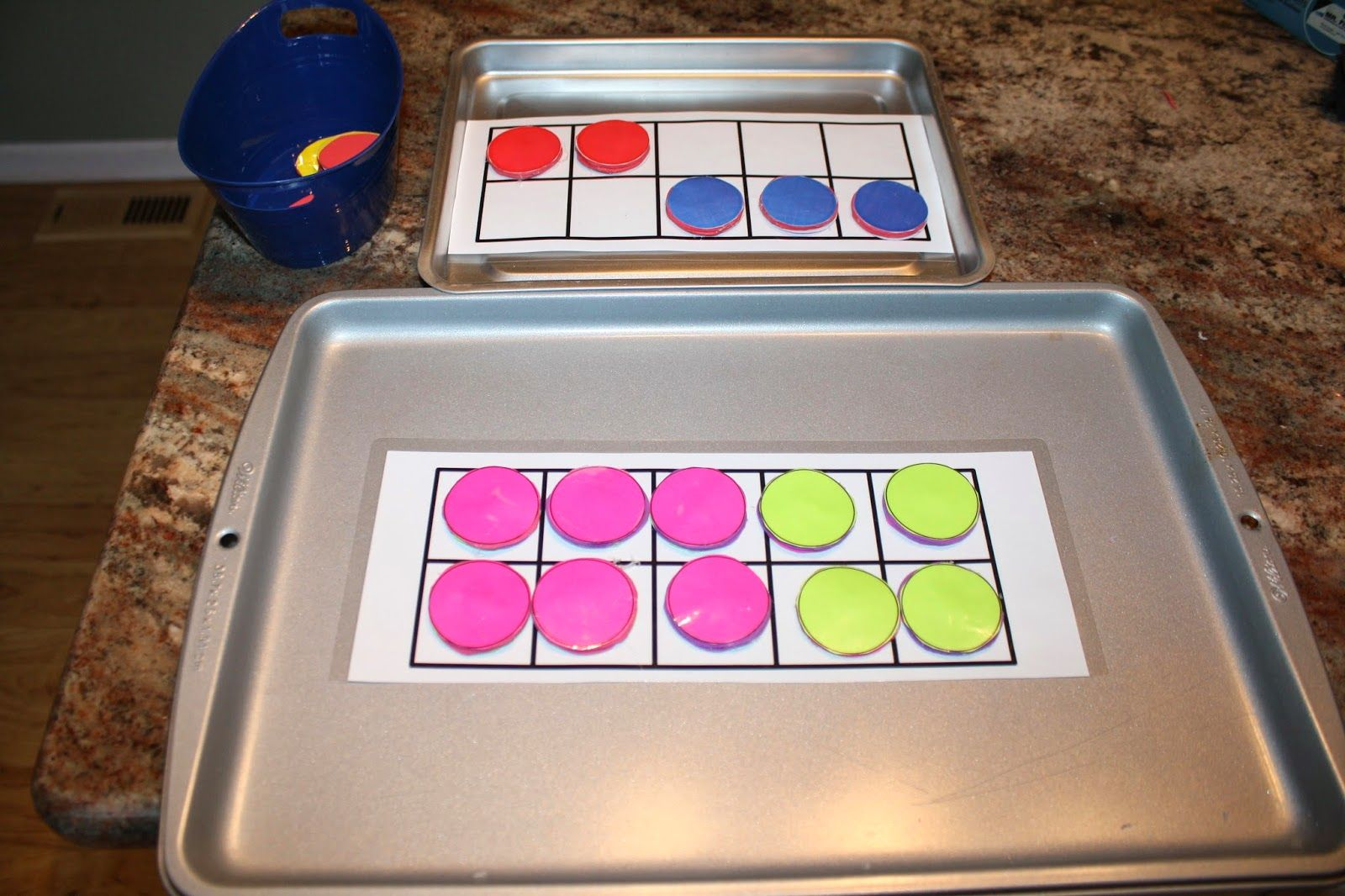 Diy Free Template For Magnetic Ten Frame And Double Sided