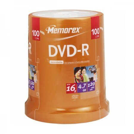DVD-R 16x Memorex Tarrina 100 uds