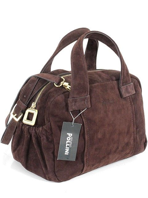 Studio Pollini Handbag Espresso Suede Our Price 294 95