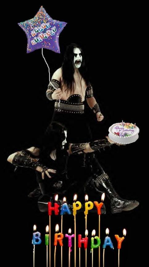 Black Metal Birthdays Birthday Anniversaire Rock Anniversaire