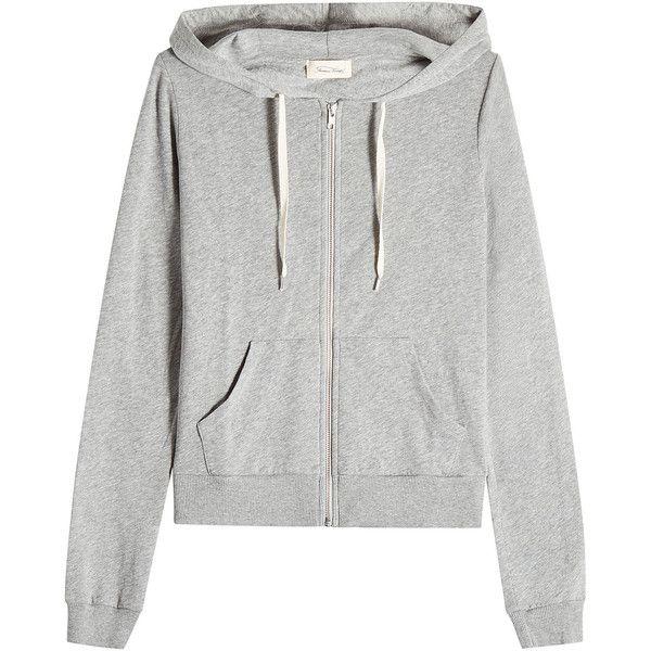 American Vintage Cotton Zip Up Hoodie 98 Liked On Polyvore Featuring Tops Hoodies Outerwear Jackets Gray Hoodies Cotton Hoodie Grey Hooded Sweatshirt
