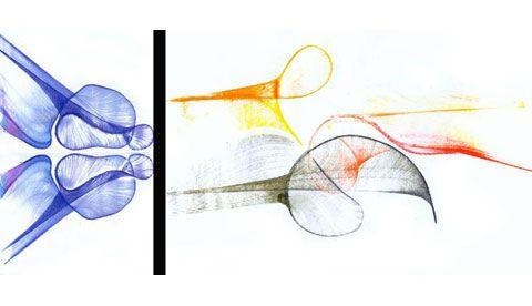 Kunst mit Farbe und Faden: Bunt gefädelt | Kunst | Faden ...