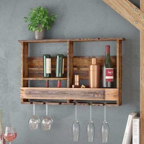 Loon Peak West Covina Wall Mounted Wine Bottle Rack Affiliate Weinflaschenregal Weinglasgestell Weinregal Holz