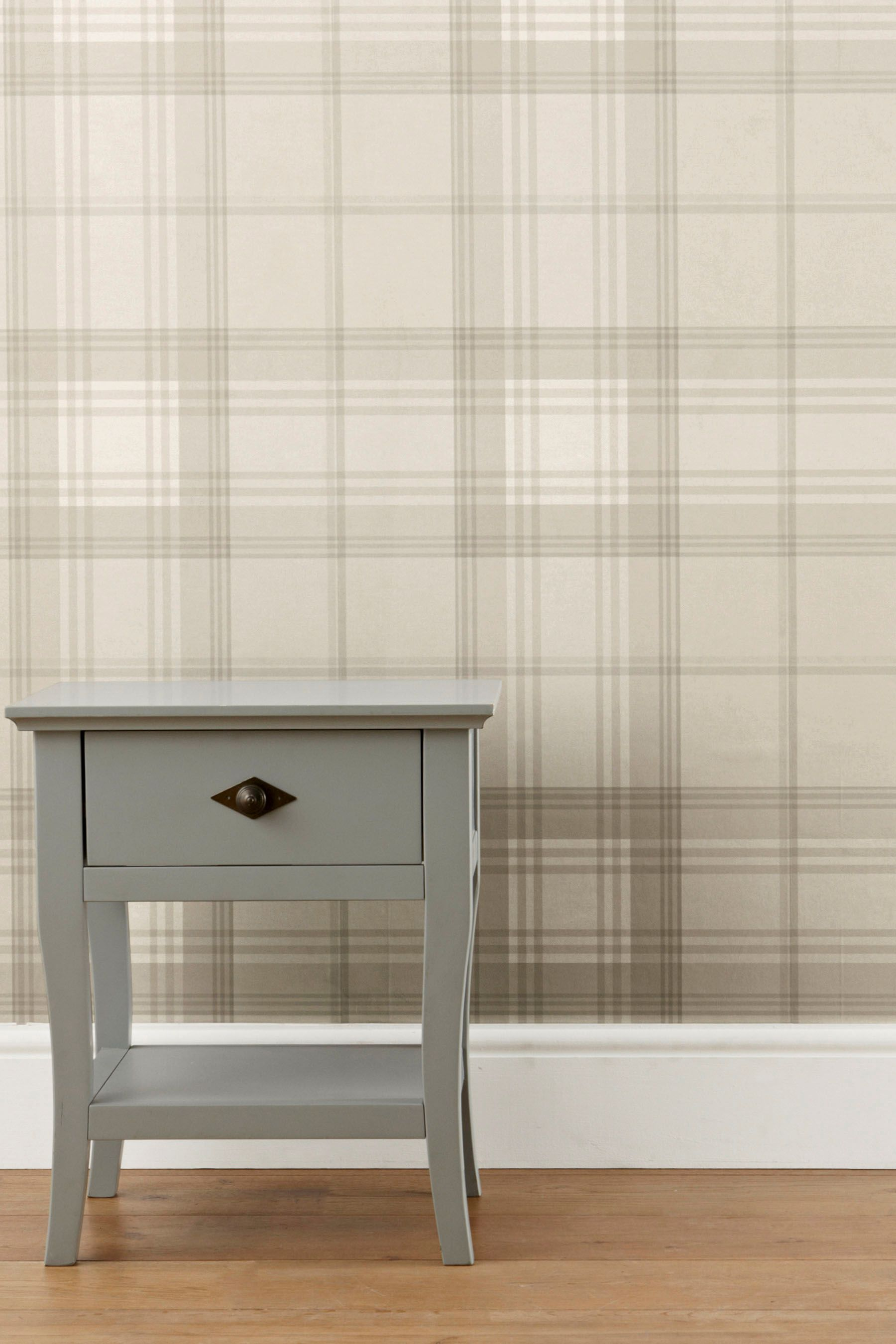 Buy Paste The Wall Natural Check Wallpaper from the Next