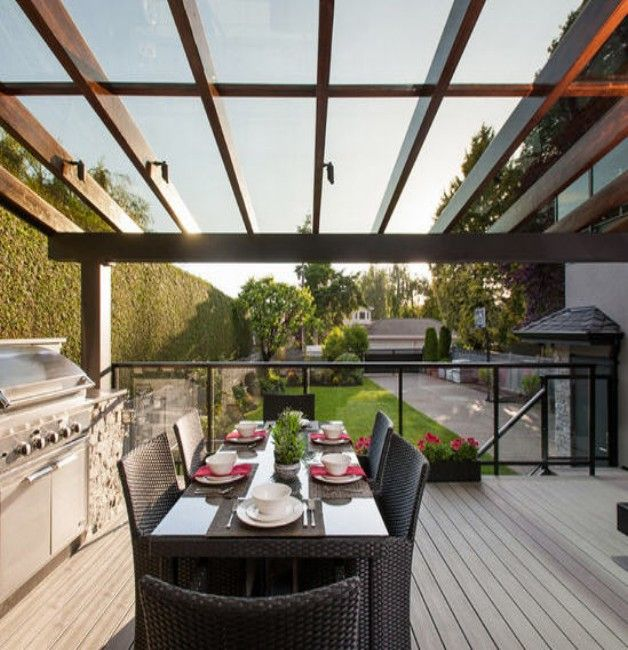 Patio Glass Roof Pergolas #Glass_Roof_Pergola #GlassRoofGazebos  #GlassRoofCanopy #Glass_Roof #GlassRoofIdeas - Glass Roof Pergolas In 2018 Pergola, Porch & Trellis Ideas