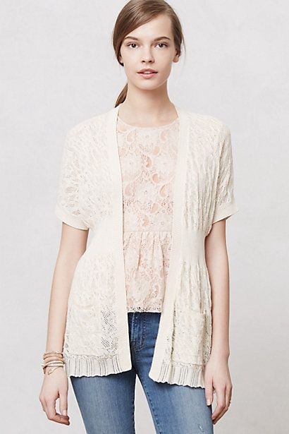 Pointelle Wisp Cardi  #anthropologie