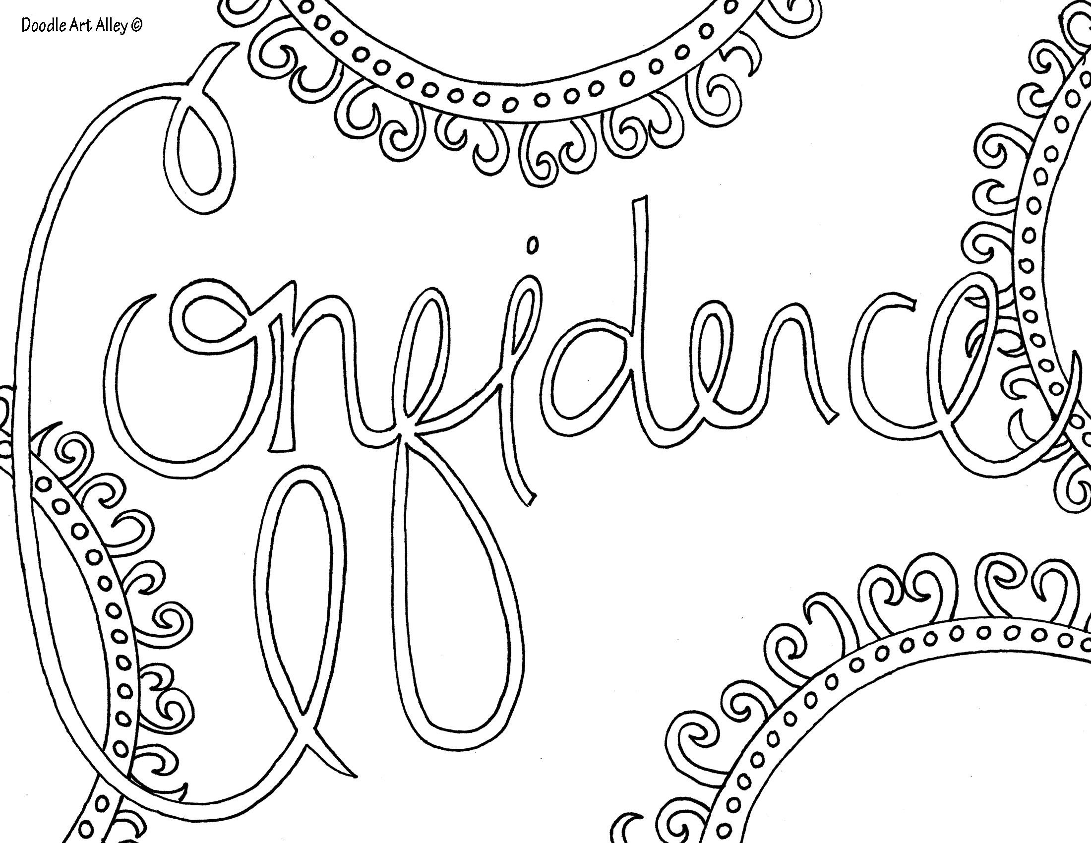 confidence coloring page - Simple Therapeutic Coloring Pages