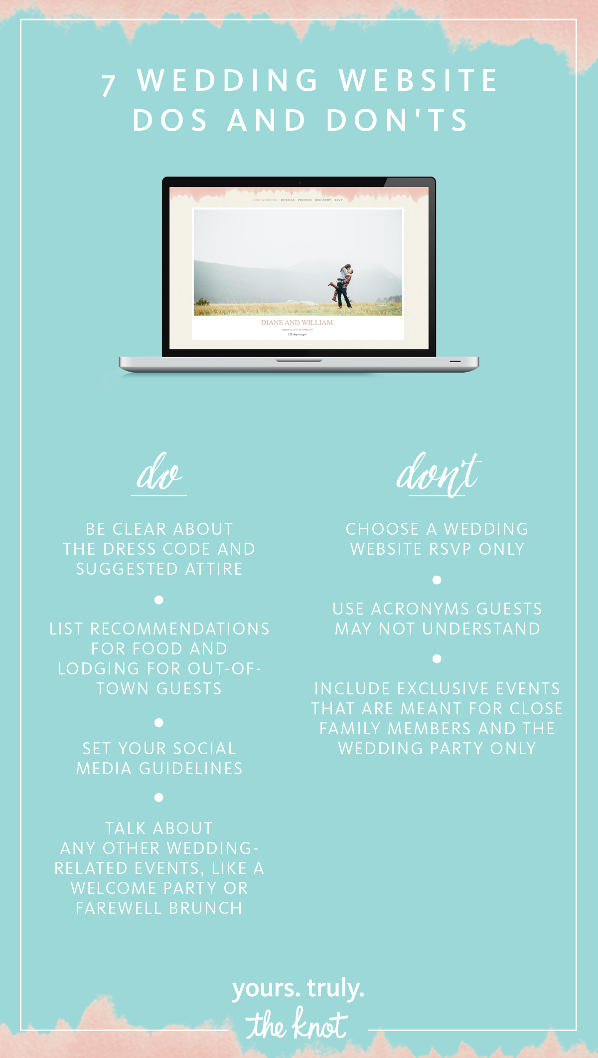 7 Wedding Website Dos and Don'ts Wedding website