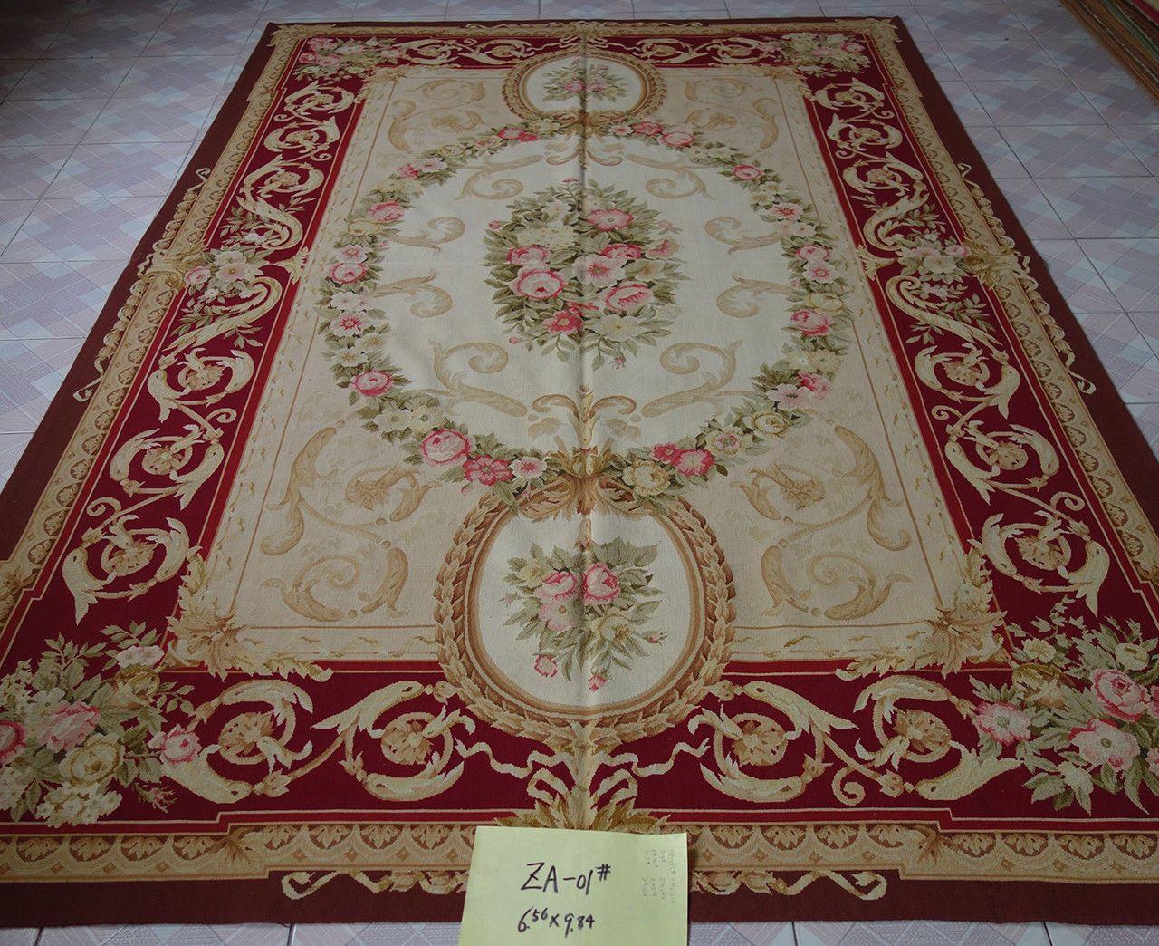 2m X 3m Beautiful Victorian Interior Burgandy Rose Garland Aubusson Rug