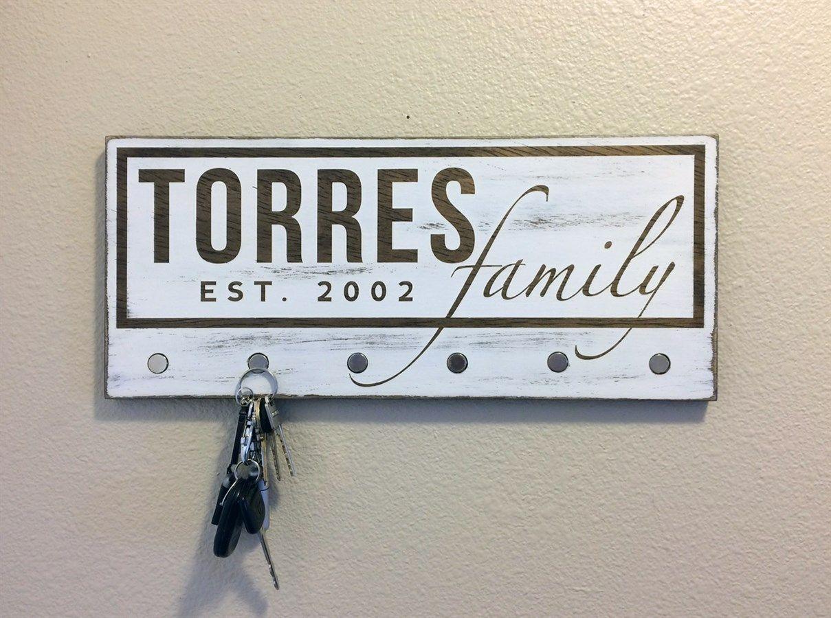 Personalized Key Holder Sign   Personalized key holder ...
