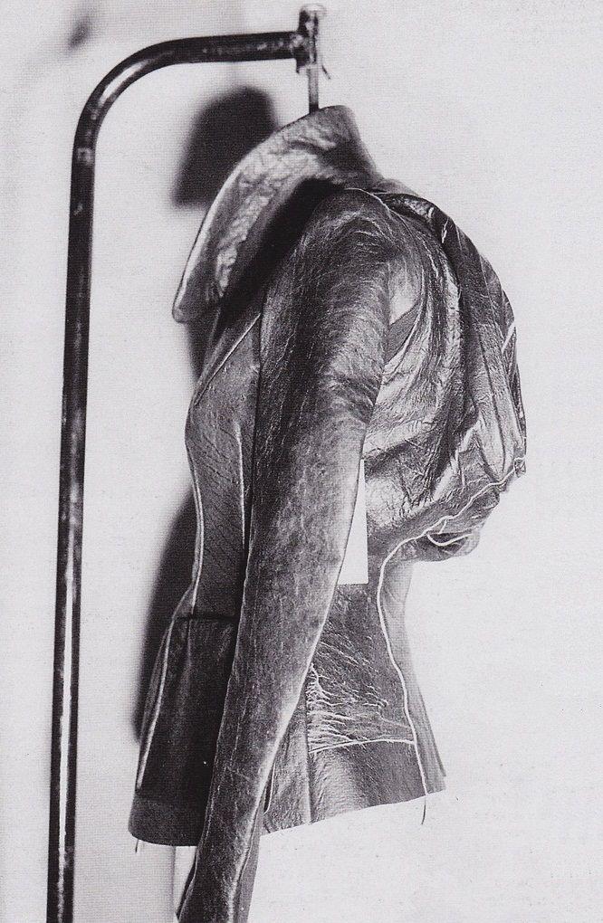 Rick owens 1998 Futuristic fashion, Leather jacket, Fashion