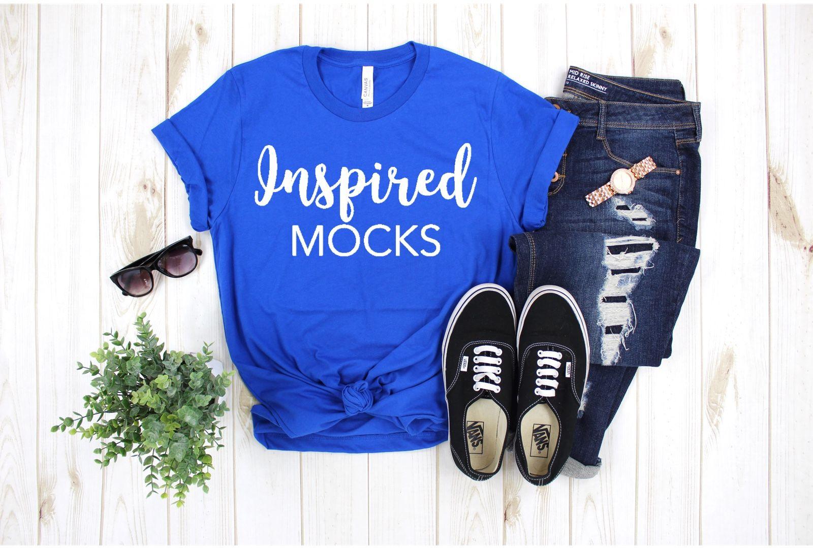T-shirt Mockup Unisex Shirt Mockup Workout Mockup Bella Canvas mockup Mock Up Flat Lay Bella Canvas 3001 Navy Mockup
