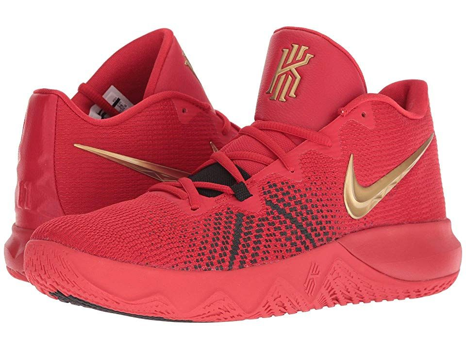 aed8d4542528 Nike Kyrie Flytrap (University Red Metallic Gold Black) Men s Basketball  Shoes.