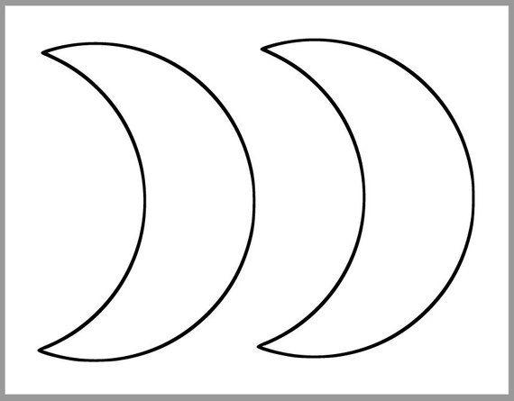 Moon Template Printable. free printable sketching