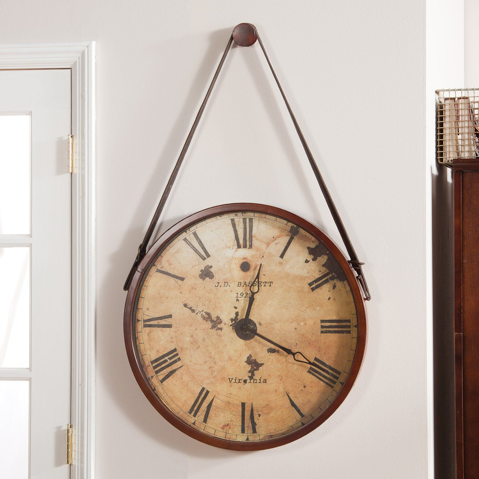 Have to have it. Hanging Decorative 24-in. Wall Clock with Faux ...