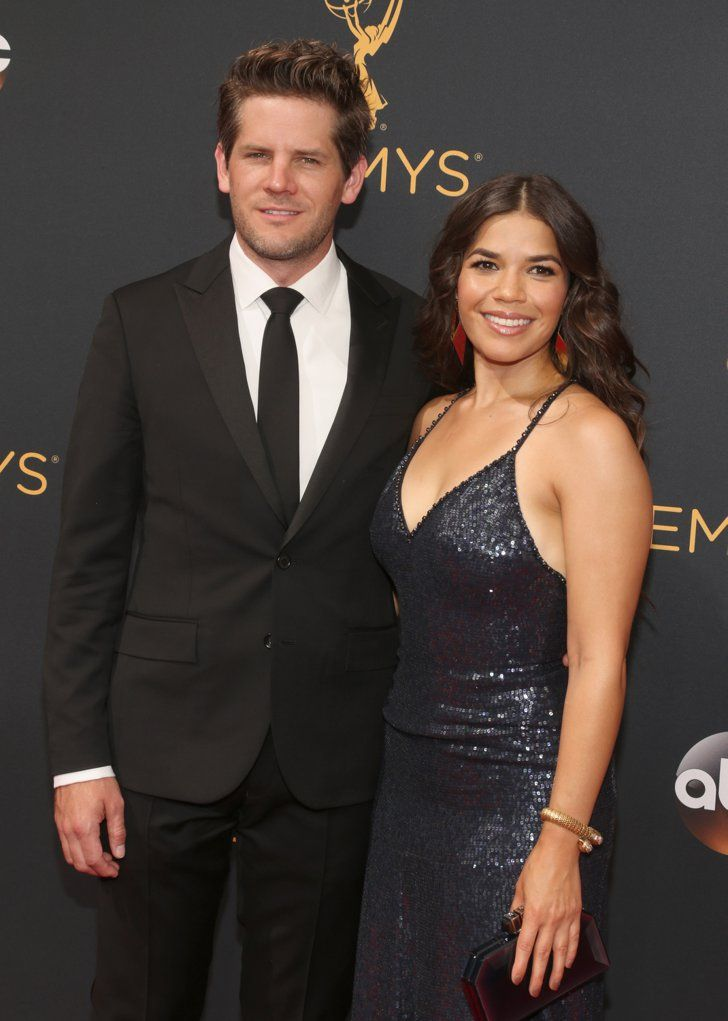 Hollywood Couples Raked In Some Cute Moments at the Emmys America Ferrera and Ryan Piers Williams