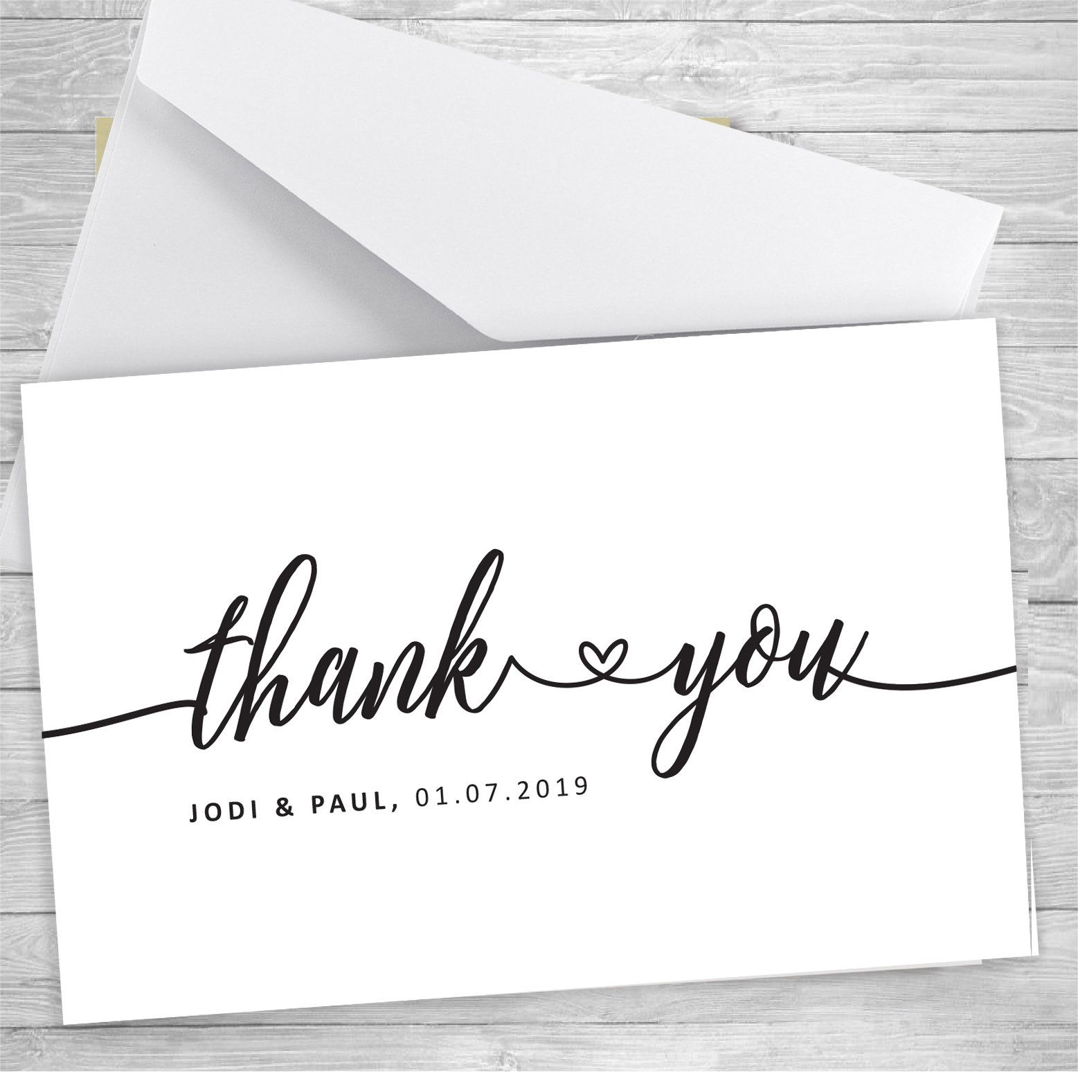 Thank You Card Pack Wedding Thank You Notes Folded Wedding Thank