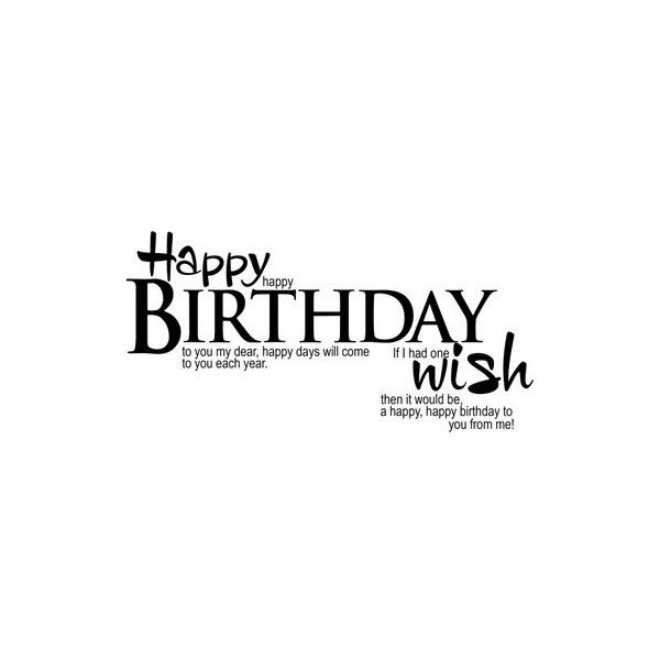 Happy Birthday Wonder Woman Quotes: Elegant WordArt 2: Happy Birthday Wish Liked On Polyvore