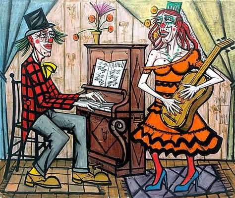 bernard-buffet-le-clown-musicien-et-la-diva.jpg (474×400)