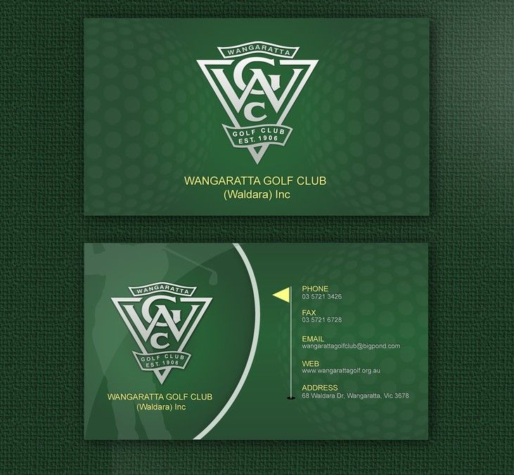 Help Wangaratta Golf Club (Waldara) Inc with a new business card - club card design