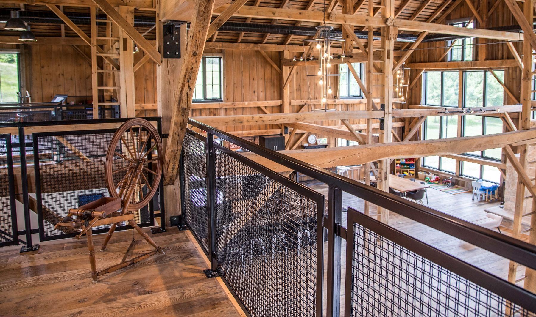 Barn Home powder coated wire mesh railing   Garage ...