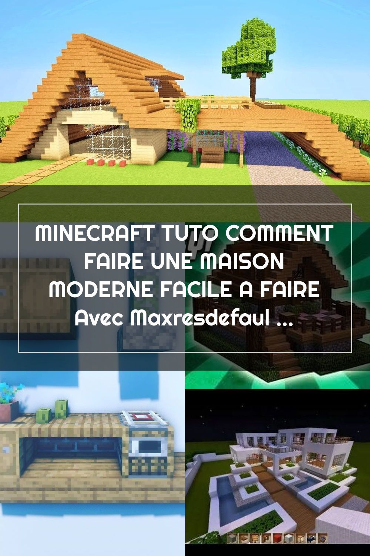 Minecraft Tuto Comment Faire Une Maison Moderne Facile A Faire Avec Maxresd In 2020 Minecraft Houses Outdoor Structures Pergola