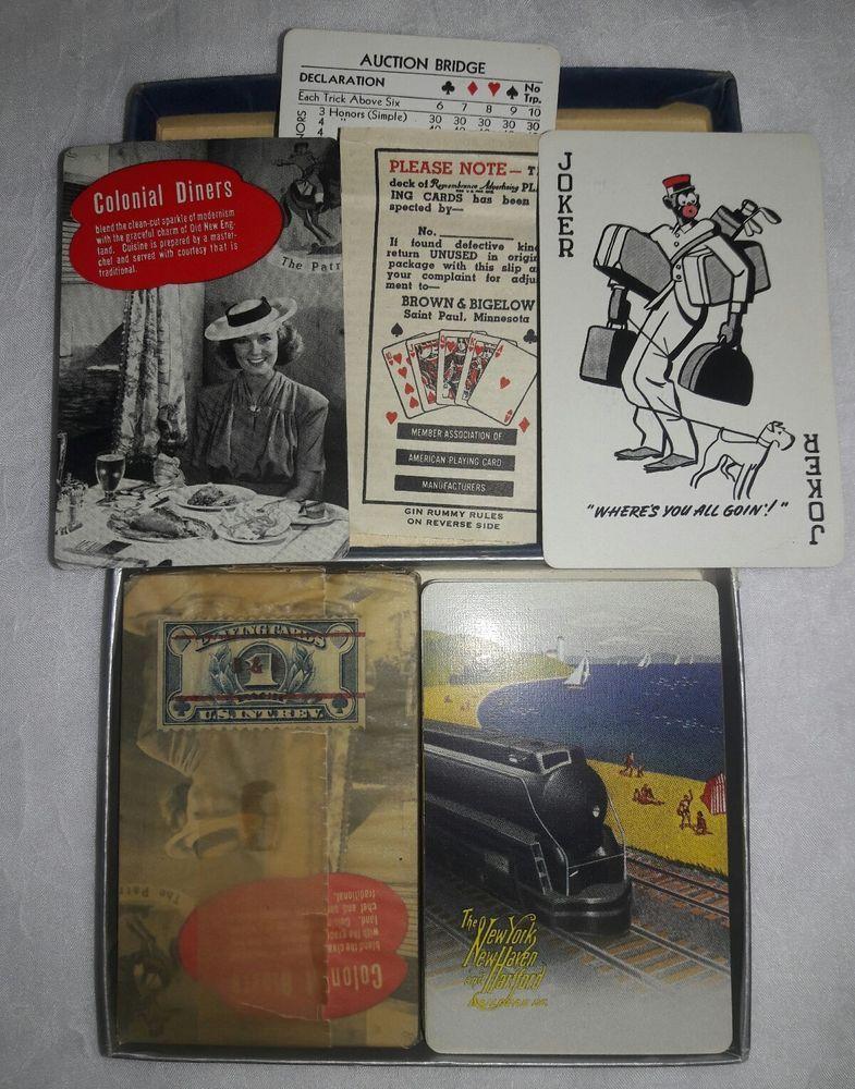 2 Vintage Southern Pacific Railroad Americana Train Card Decks Rare