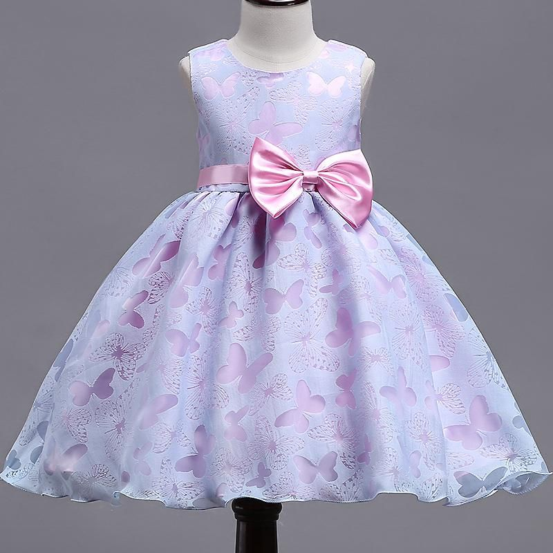 27f3293923 2018 Summer NEW Girls Dress Baby girls purple Print butterfly ...