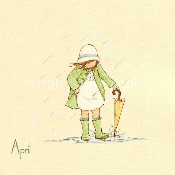 Kinder wand kunstdrucke ihr monat f r von sarahjanestudios auf etsy kinderzimmer art art - Kinderbilder wand ...