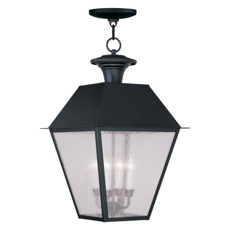 Livex Mansfield 2174-04 4-Light Outdoor Chain Hang in Black - 2174-04