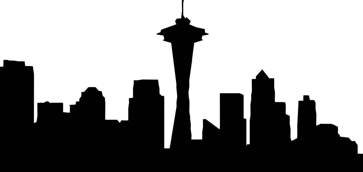 seattle skyline outline clipart best clipart best graphics and rh pinterest com seattle clip art free seattle seahawks clip art free